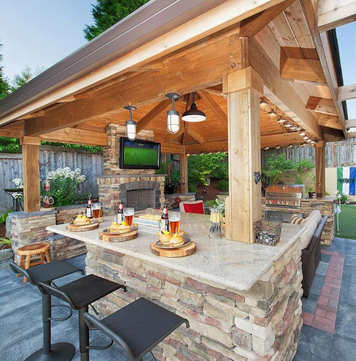 Gazebo Bar Dining Perfect for game nights