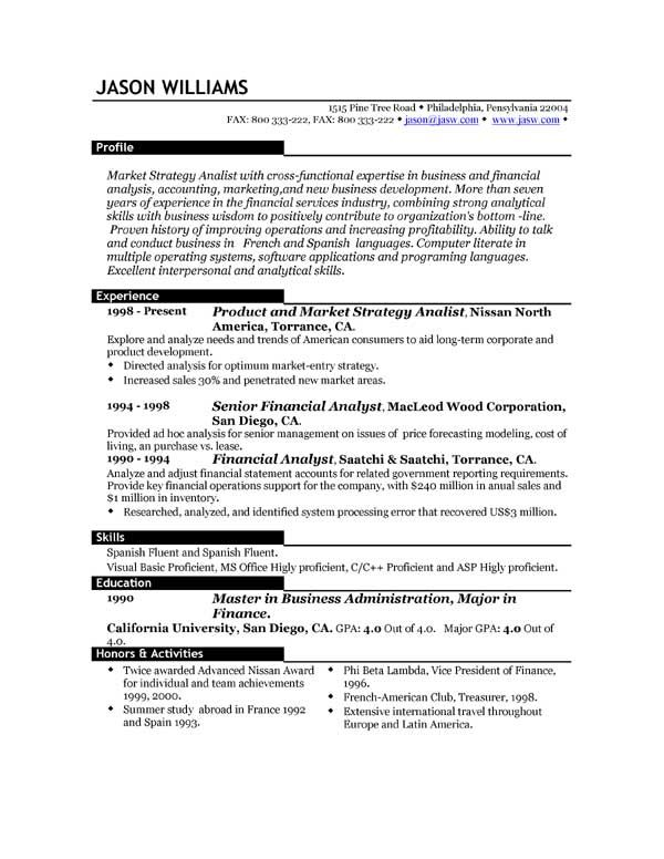 format for a good resume gse bookbinder co - Format Of A Good Resume