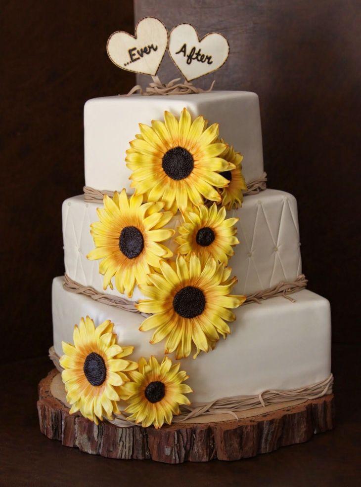 Sunflower Wedding Cake  simpleweddingstuffspot