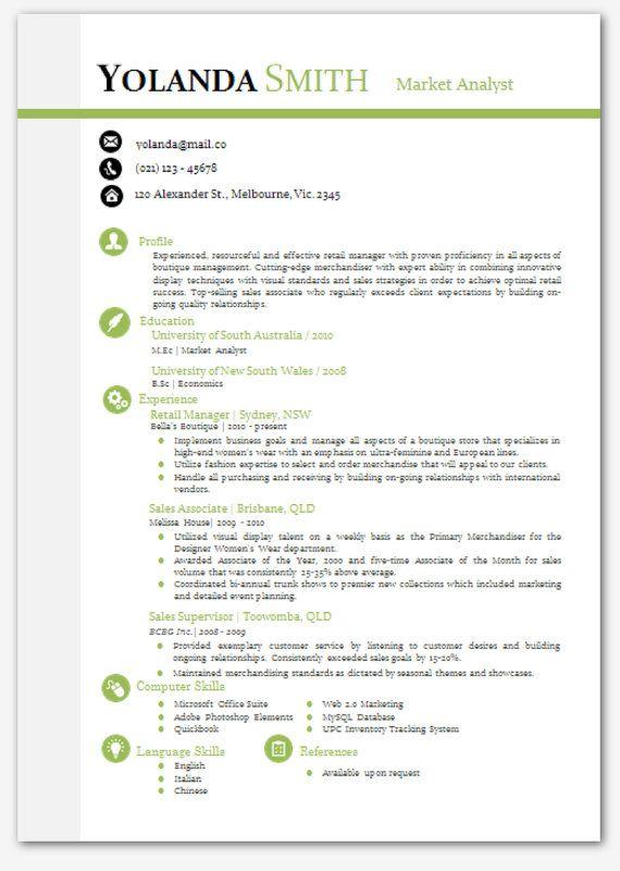 modern resume template microsoft word