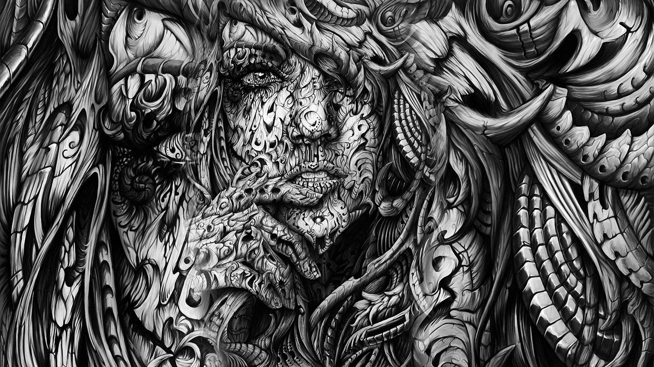 abstract-3d-black-n-white-   art and design   pinterest
