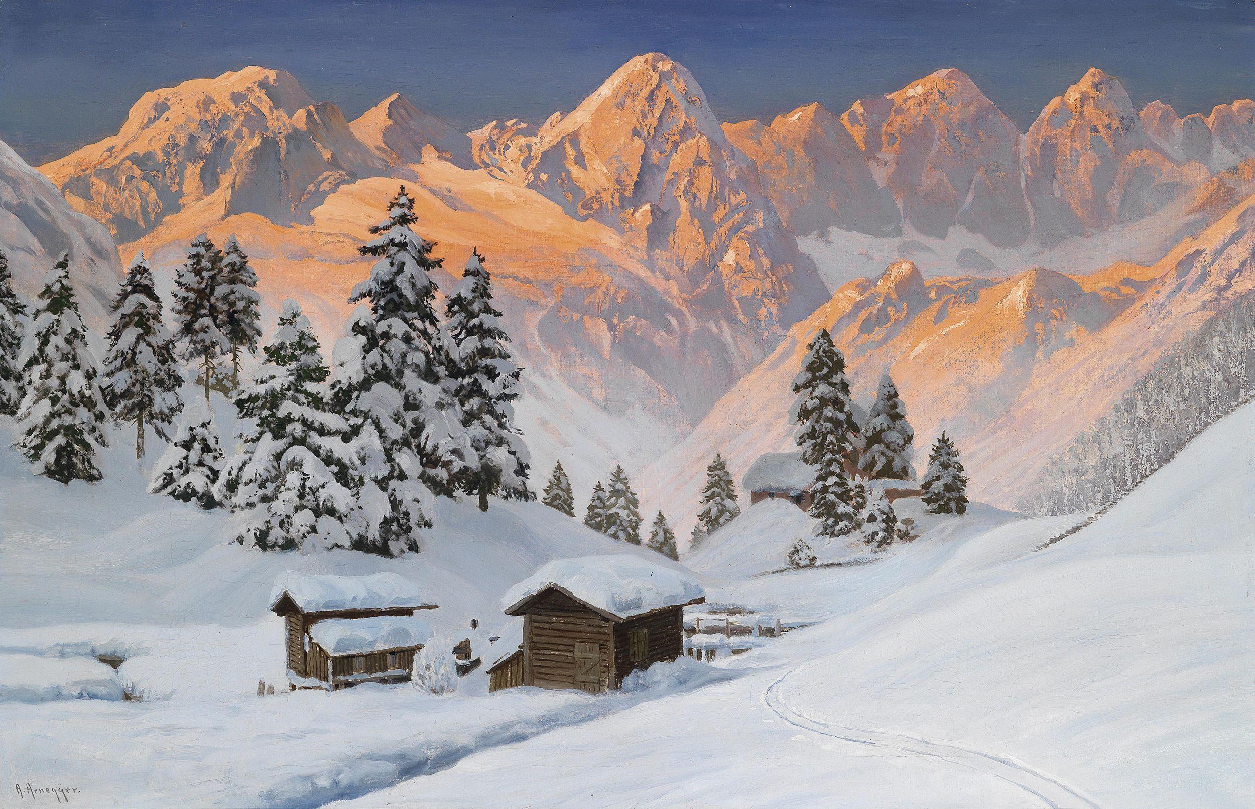 Alois Arnegger, . Winter, Alps