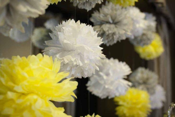 gray and yellow wedding decor lemon centerpieces a good affair