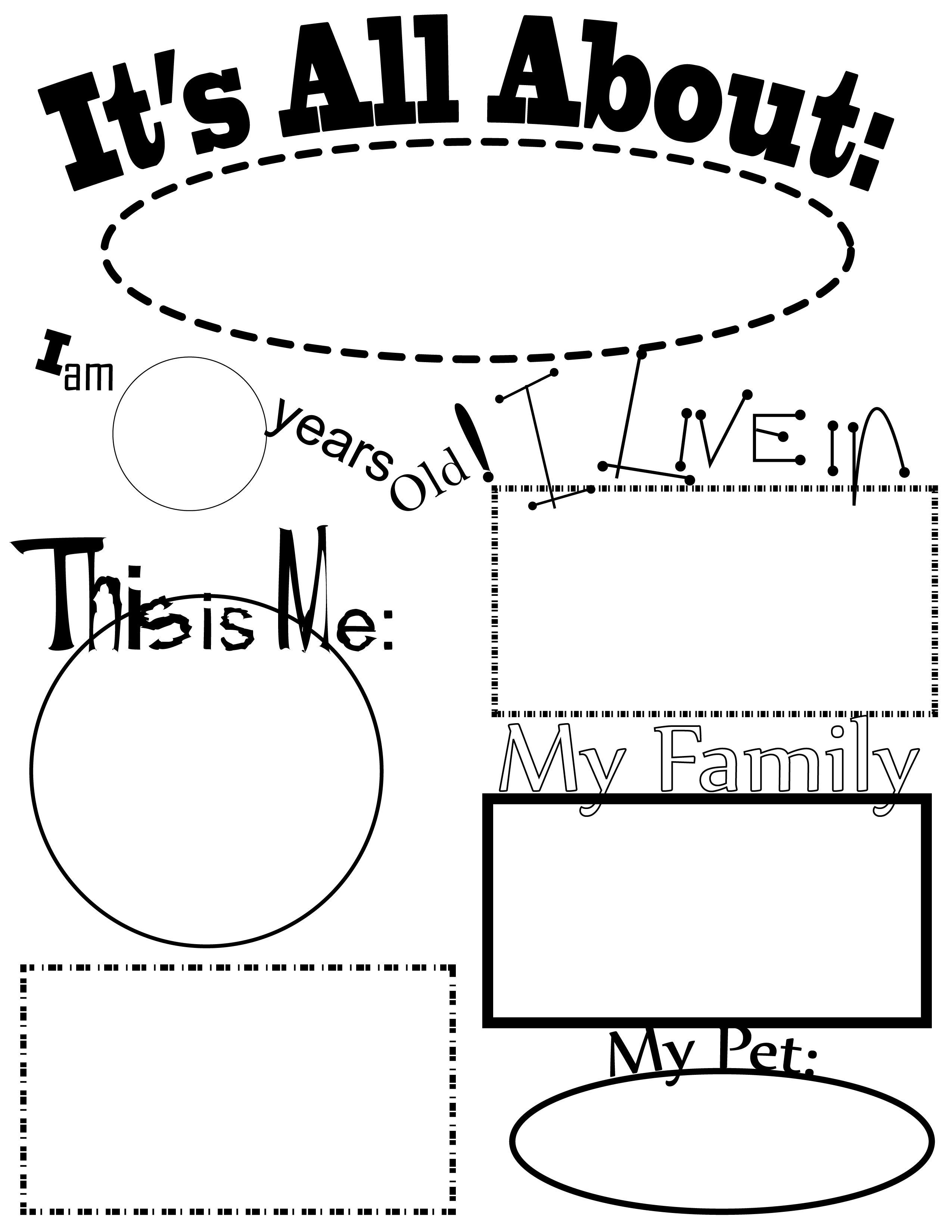 All About Me Activities All About Me Theme This Will Be Great For The Start Of The School Year