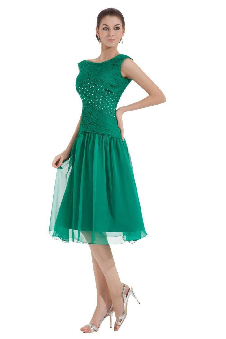 Dora Bridal Womens TeaLength Ruched Mother Of The Bride Dresses