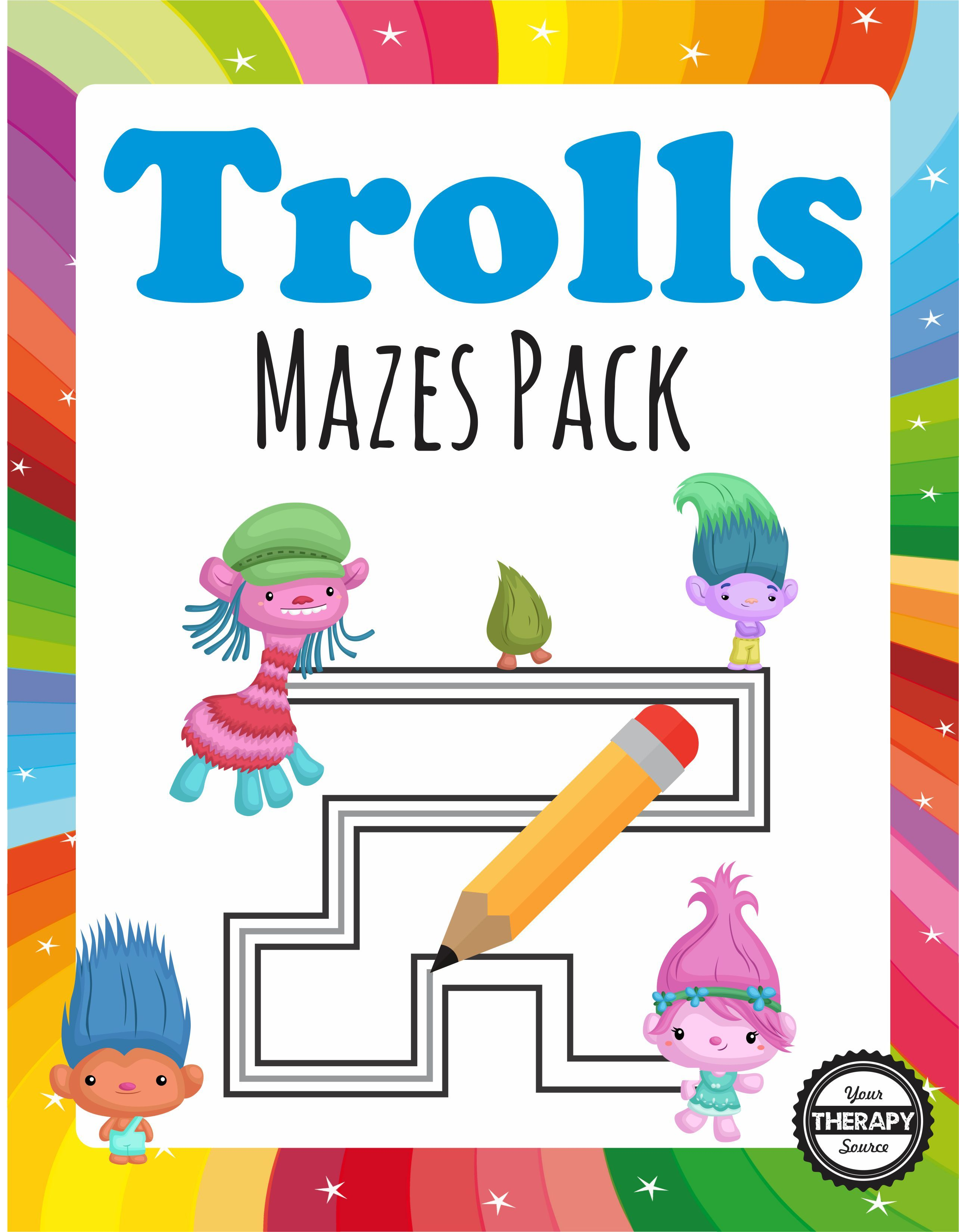 Here Are 15 Trolls Mazes For Children To Have Some Technology Free Fun Great For Rainy Days