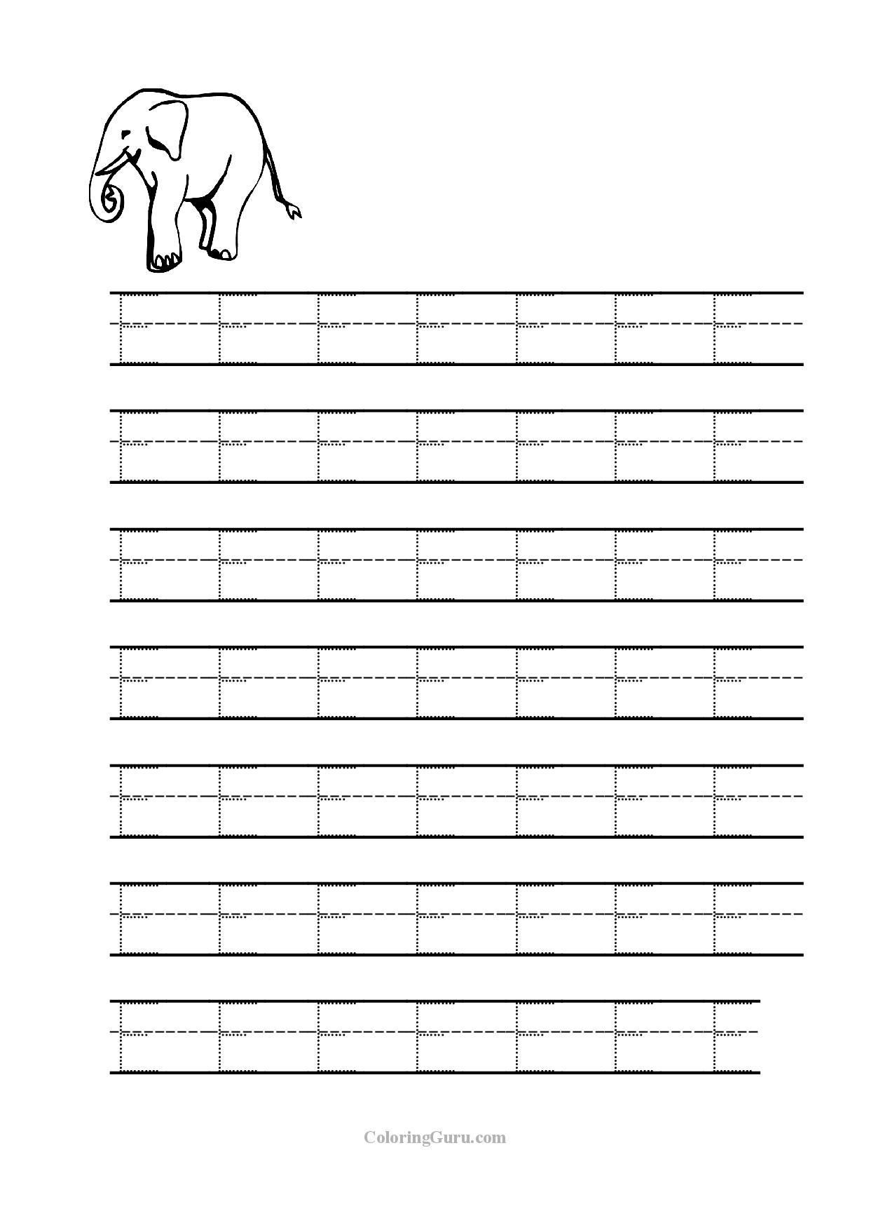 Tracing Letter D Worksheets For Preschool