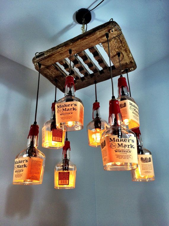 Makers Mark Whiskey Driftwood 8 Bottle Chandelier Don T Like The Alcohol But