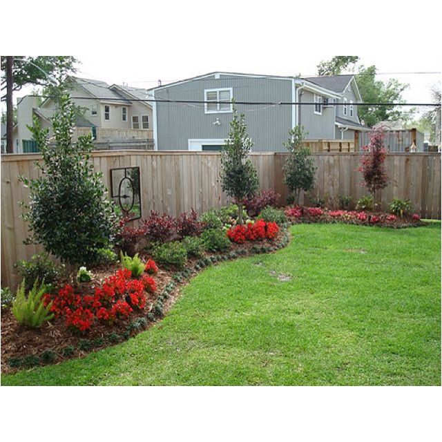 backyard along the fence outdoor ideas pinterest on backyard garden fence decor ideas id=80463