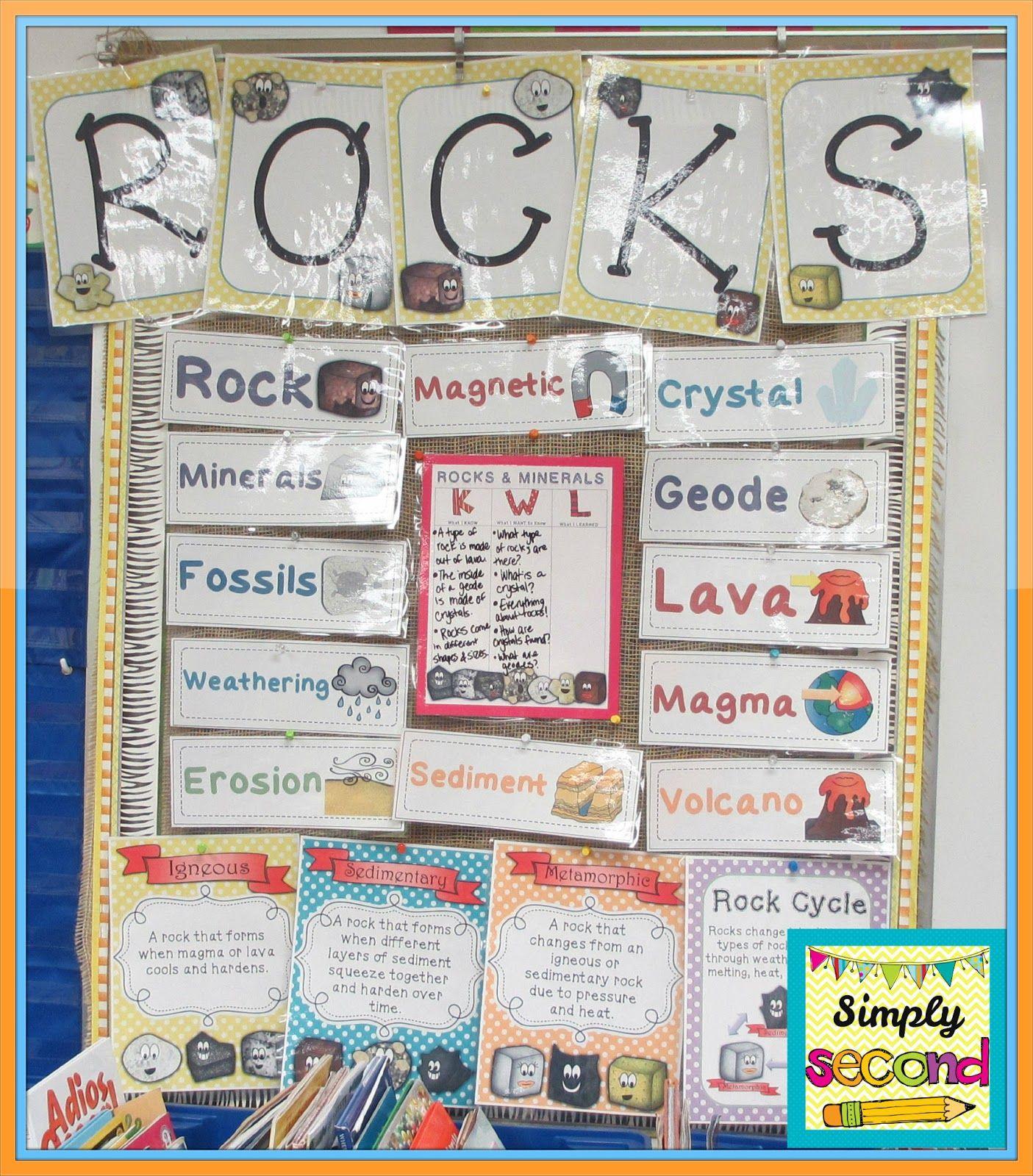 Rocks Amp Minerals Unit Includes Posters Rock Stories