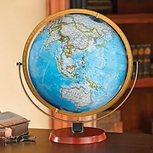 Byrd Illuminated Desk Globe   Desk globe  Globe and Desks Byrd Illuminated Desk Globe   MAPSMANational Geographic Store