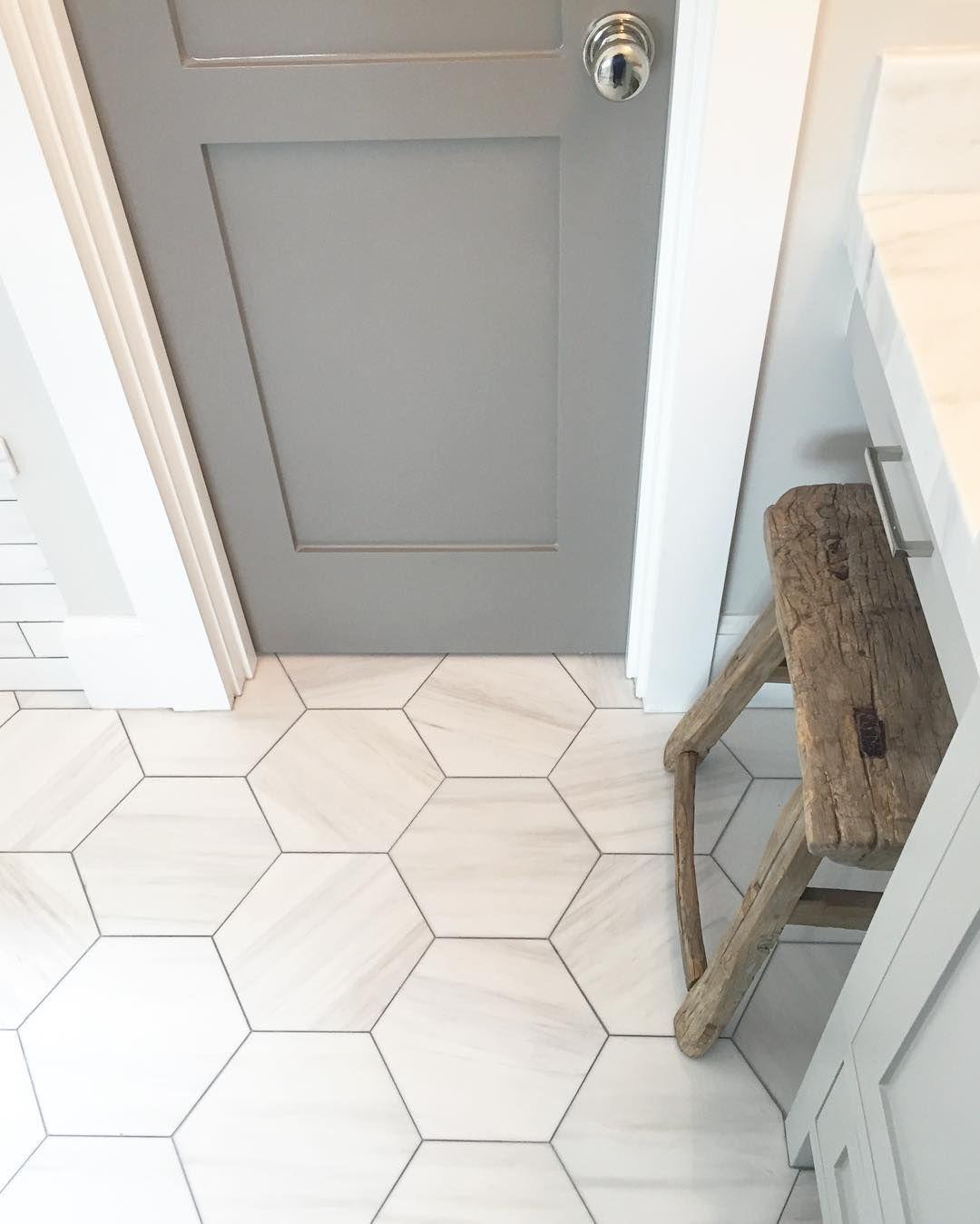 gooddesign hexagon tile bathroom floor