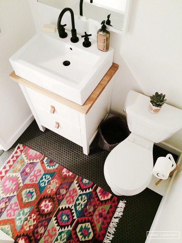 trend alert: persian rugs in the bathroom | penny tile, custom