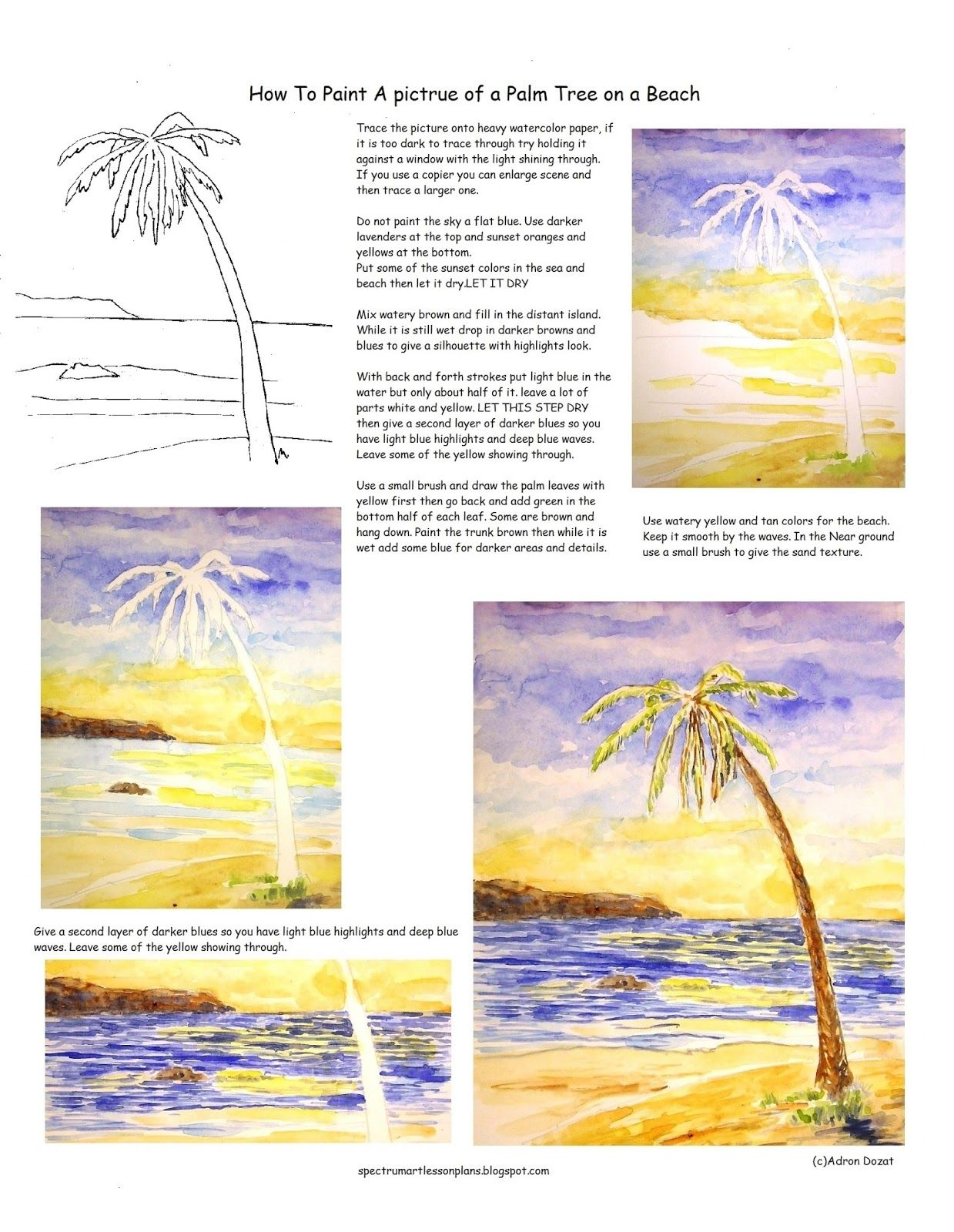 A Free Printable Worksheet To Help Practice How T Paint A