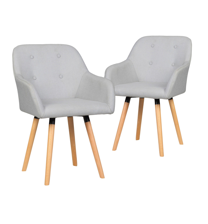 chaises kolberg lot de 2 chaises design scandinave gris clair 300e bobochicparis com
