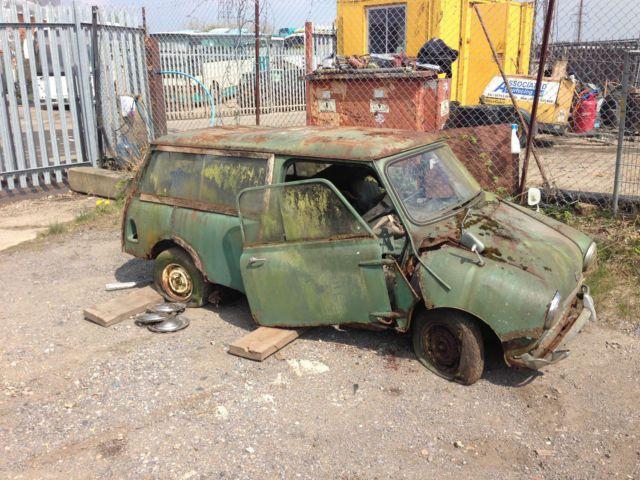 Broken 1966 Austin Mini Countryman Barn Finds
