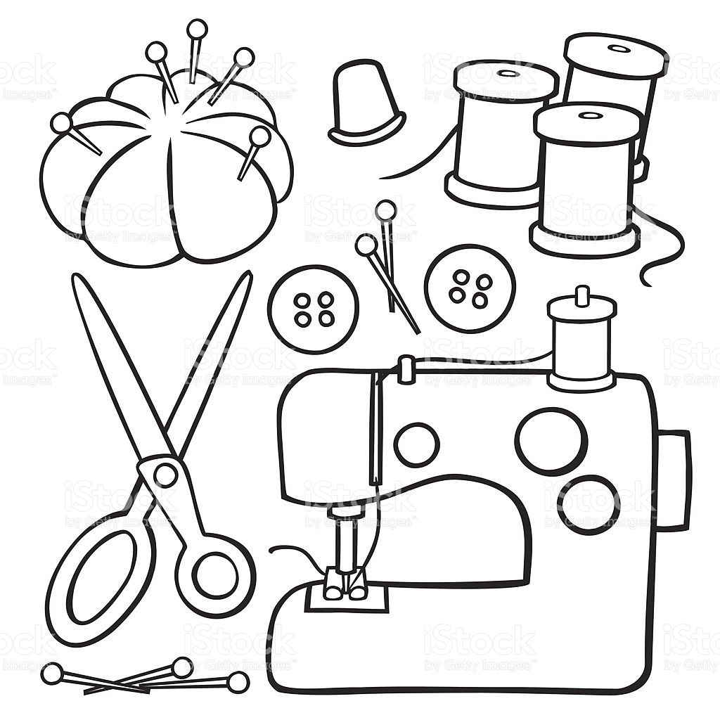 Image Result For Line Drawing Cartoon Sewing