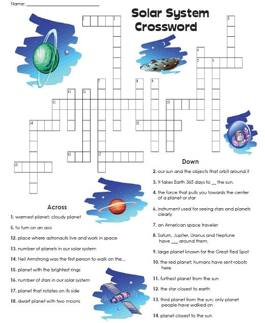 Check out our Solar System Crossword Puzzle Read the