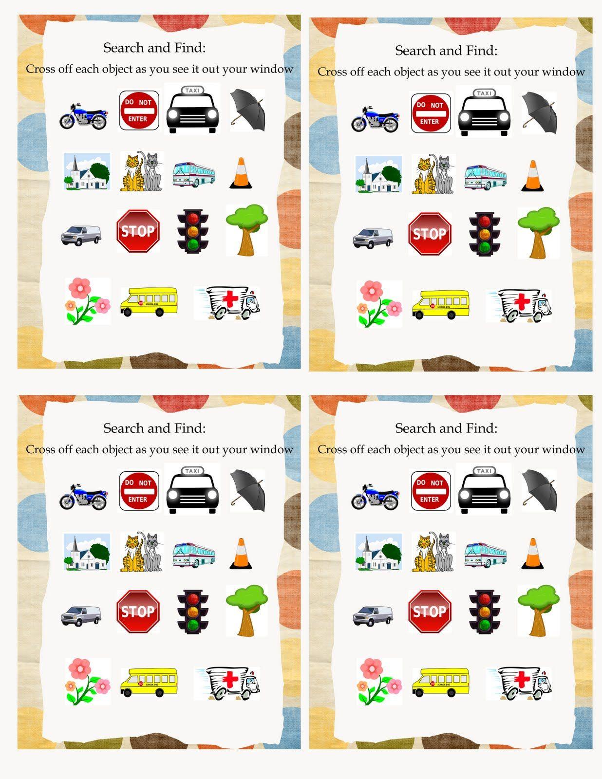 Road Trip Activity Bag 4 Cars Theme
