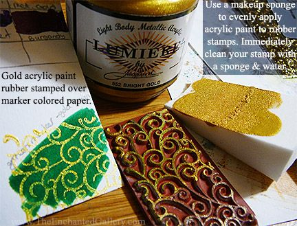 As An Alternative To Rubber Stamping Ink Any Acrylic Paint Can Be Works
