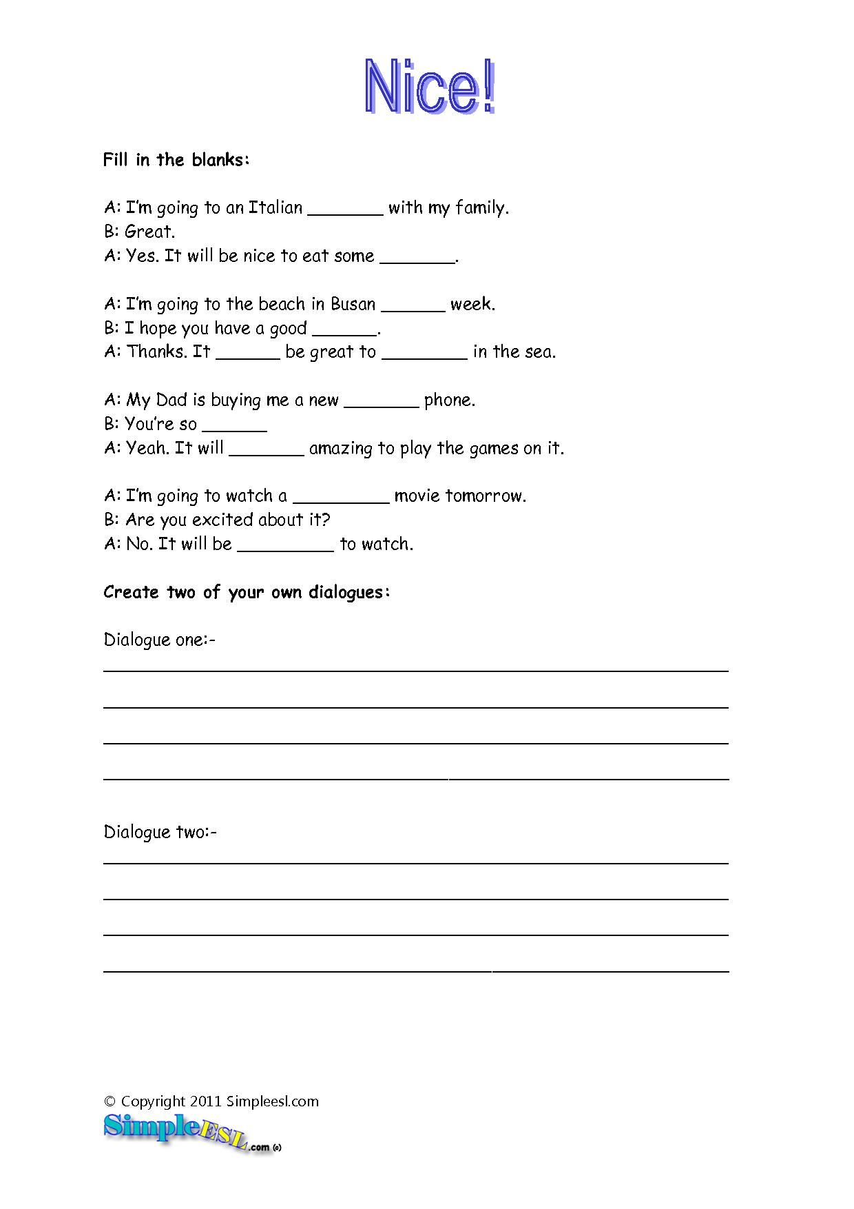 Printable English Language Arts Worksheets From Super