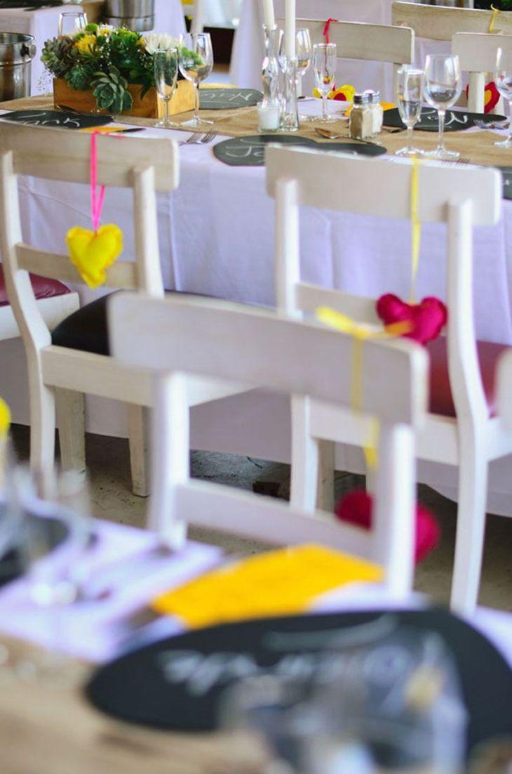 colourful wedding decor  Trou idees  Pinterest
