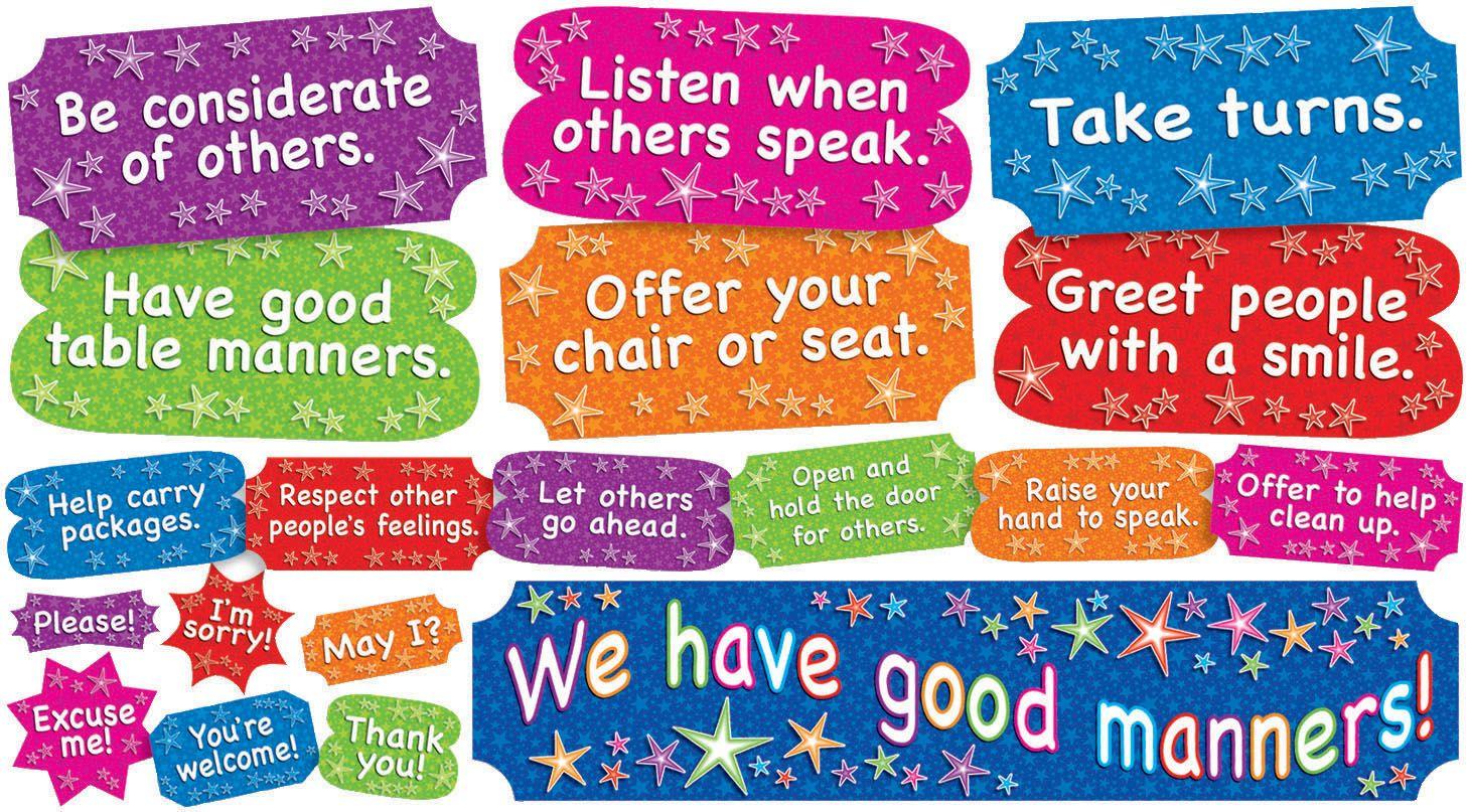 We Have Good Manners Mini Bulletin Board Set