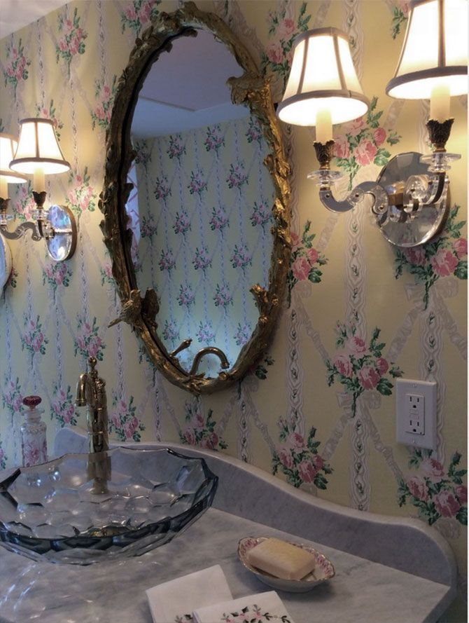 traditional bathroom decor with crystal sconces | Sconces ... on Crystal Bathroom Sconces id=51738