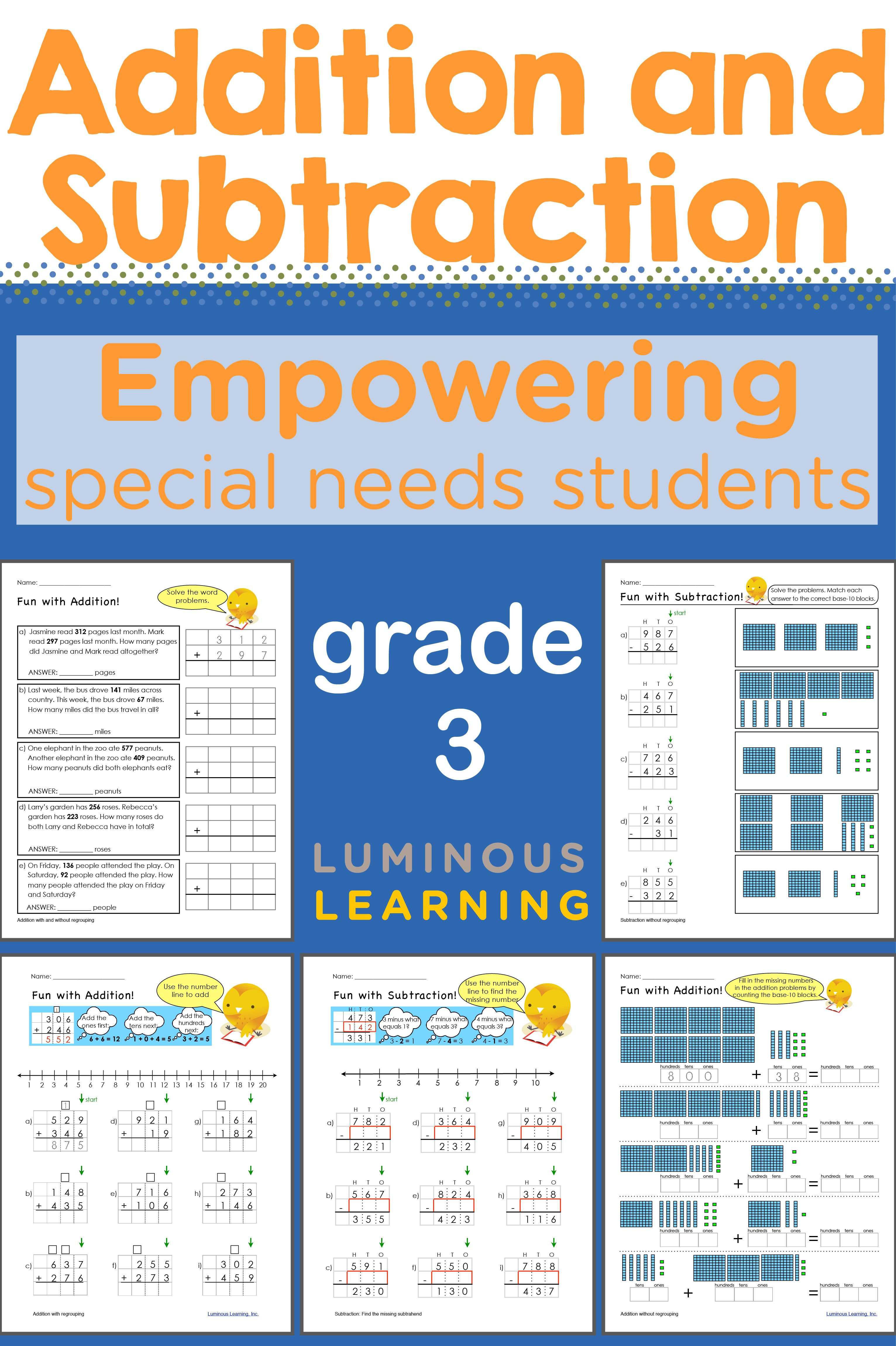 Grade 3 Addition And Subtraction Workbook Making Math