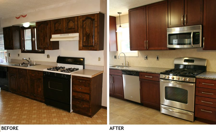 small kitchen remodel before and after on pinterest small kitchens u shaped kitchen and small on i kitchen remodel id=99131
