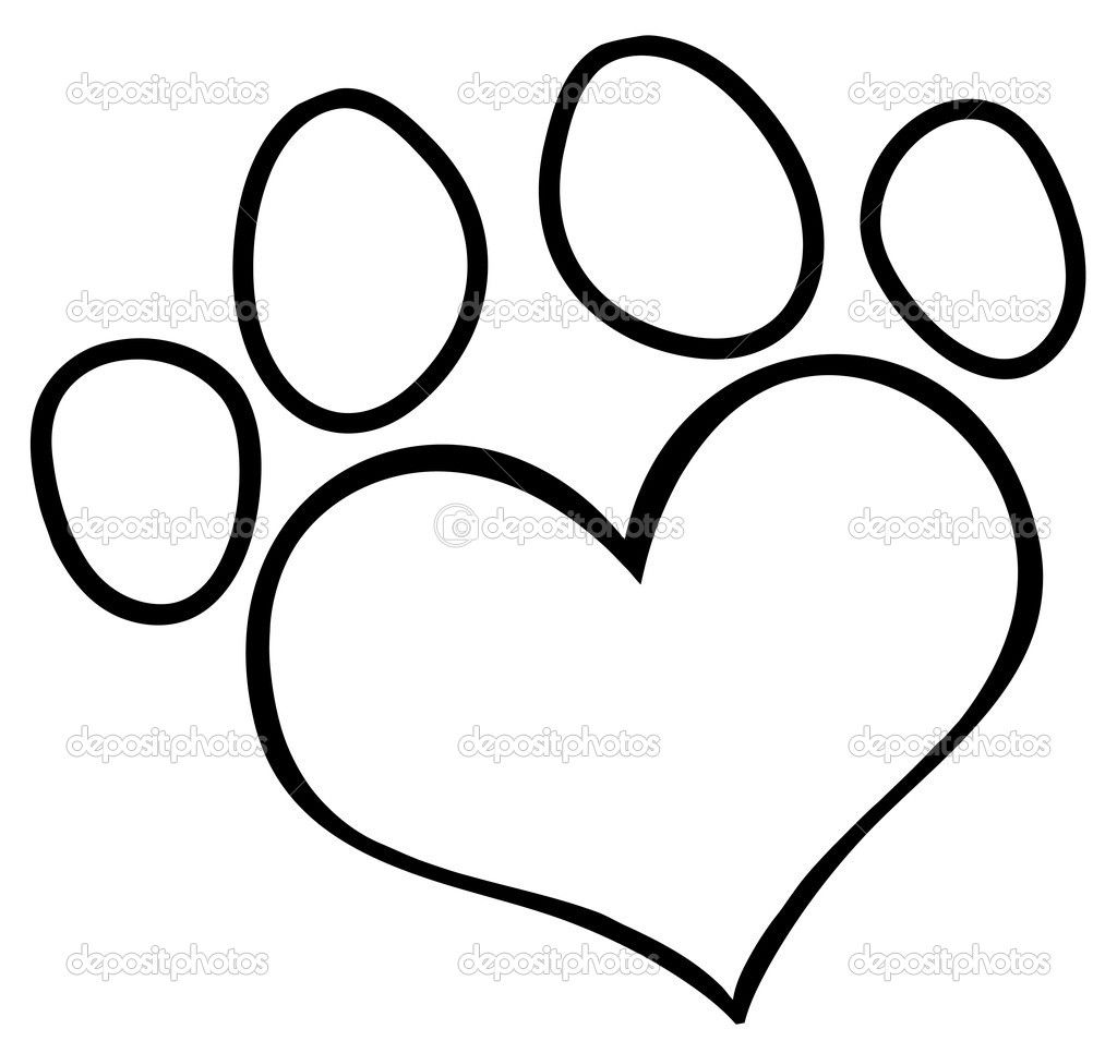 Paw Print Outline