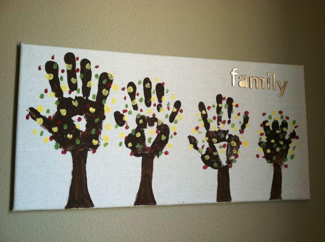 Diy family tree craft craft projects pinterest tree
