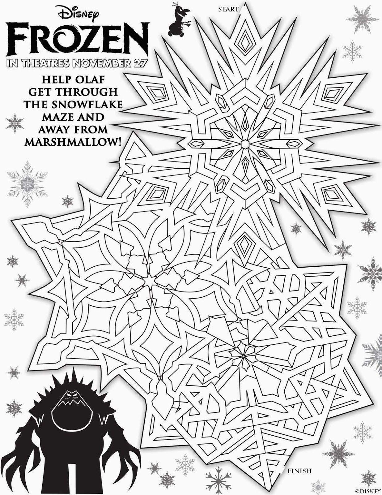 Disney S Frozen Free Christmas Activity Sheets Christmas