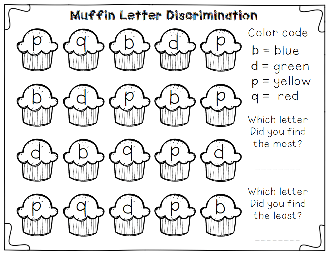 Free Letter Discrimination Worksheets Plus A Little Math Graphing Practice Great As A
