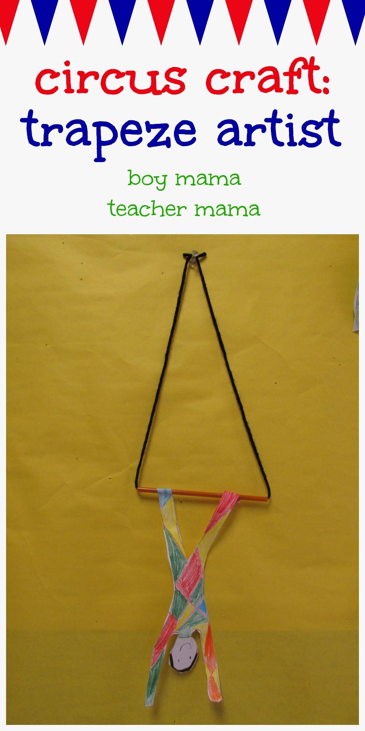Boy Mama Teacher Mama Circus Craft T Ze Artist