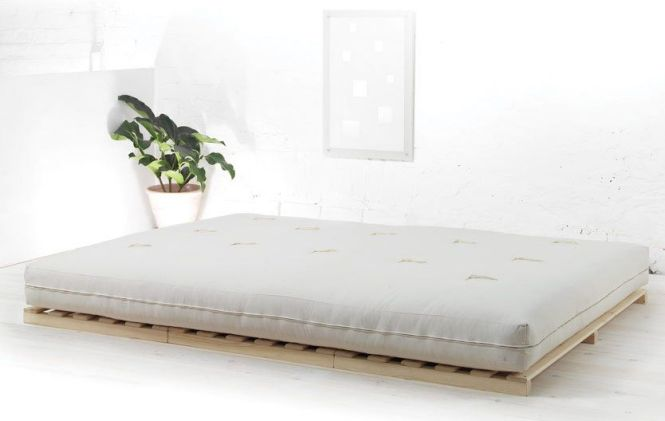 Rio Is A Solid Pine Low Futon Bed Base Simple Anese Style
