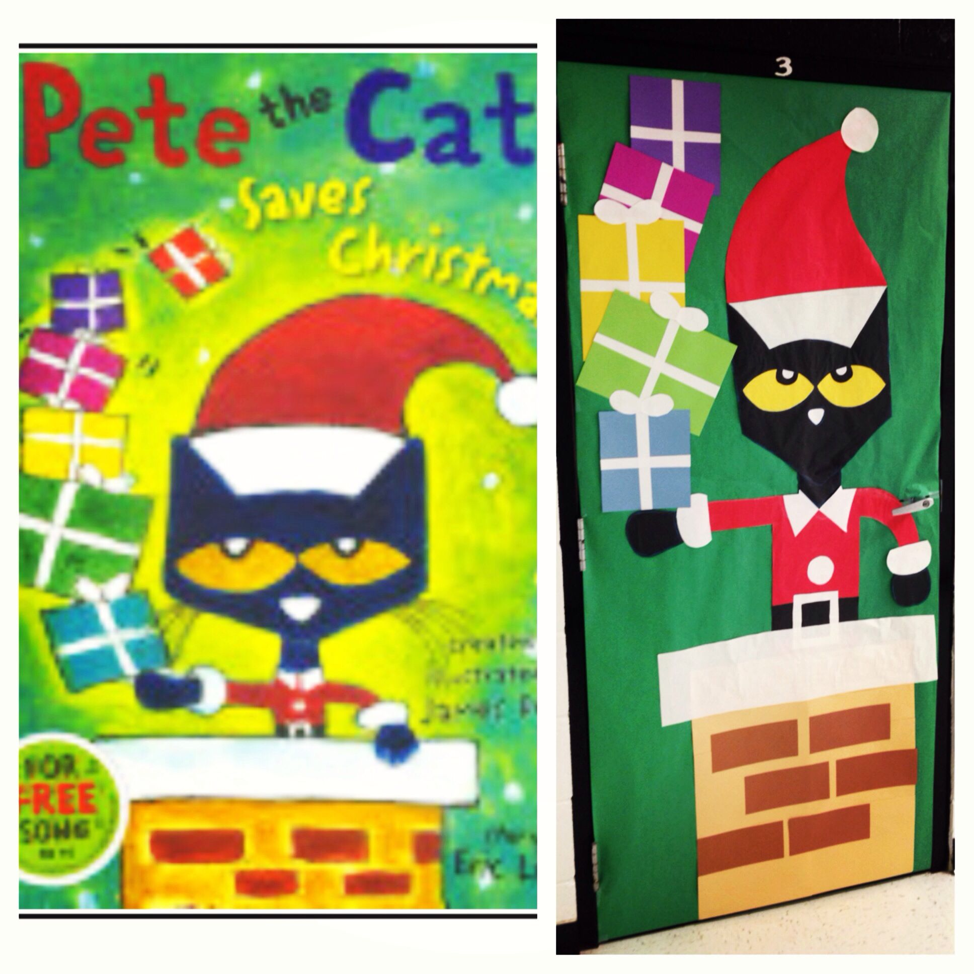 Pete The Cat Saves Christmas Classroom Door That I Made