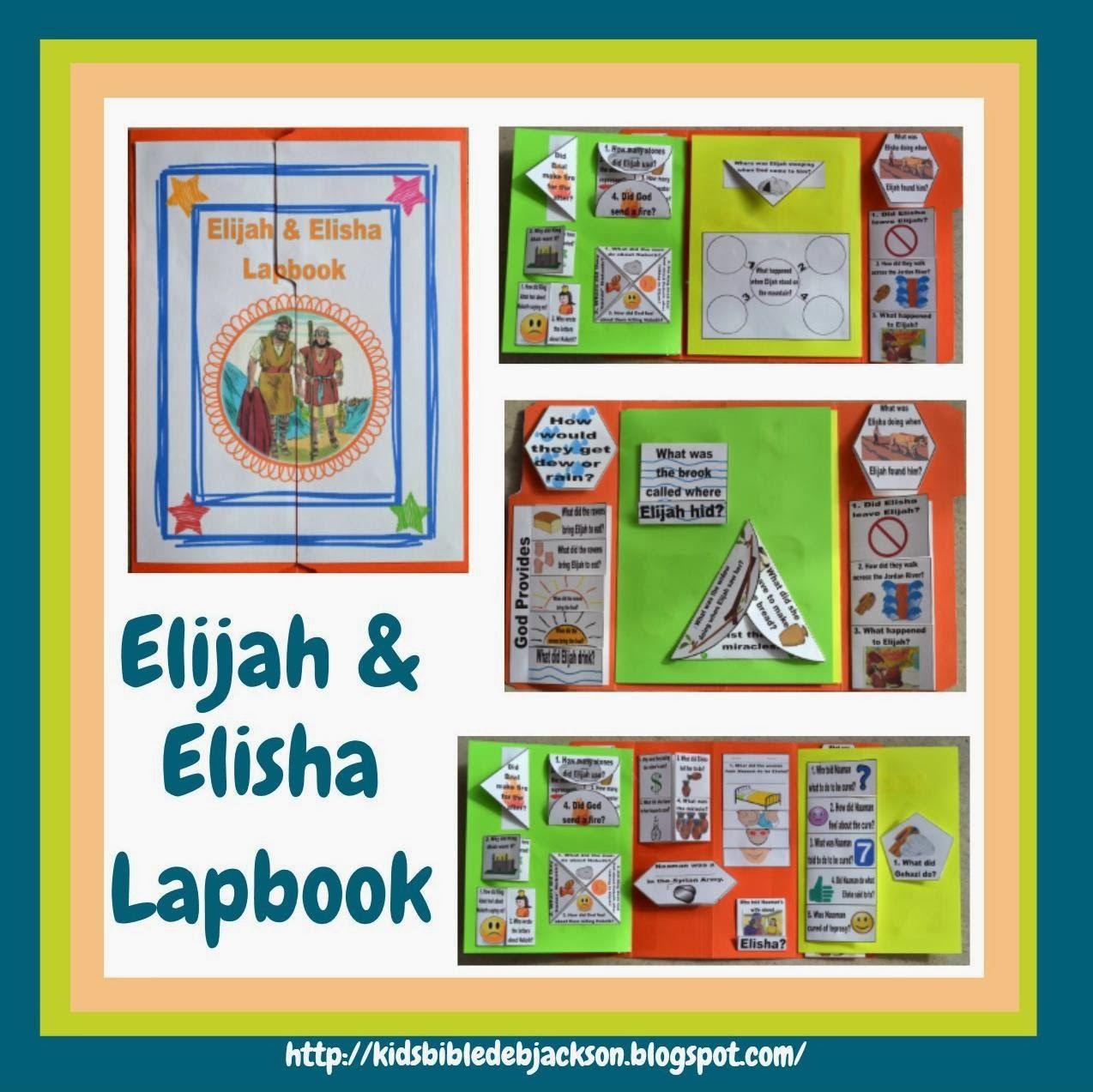 Elijah Amp Elisha Lapbook