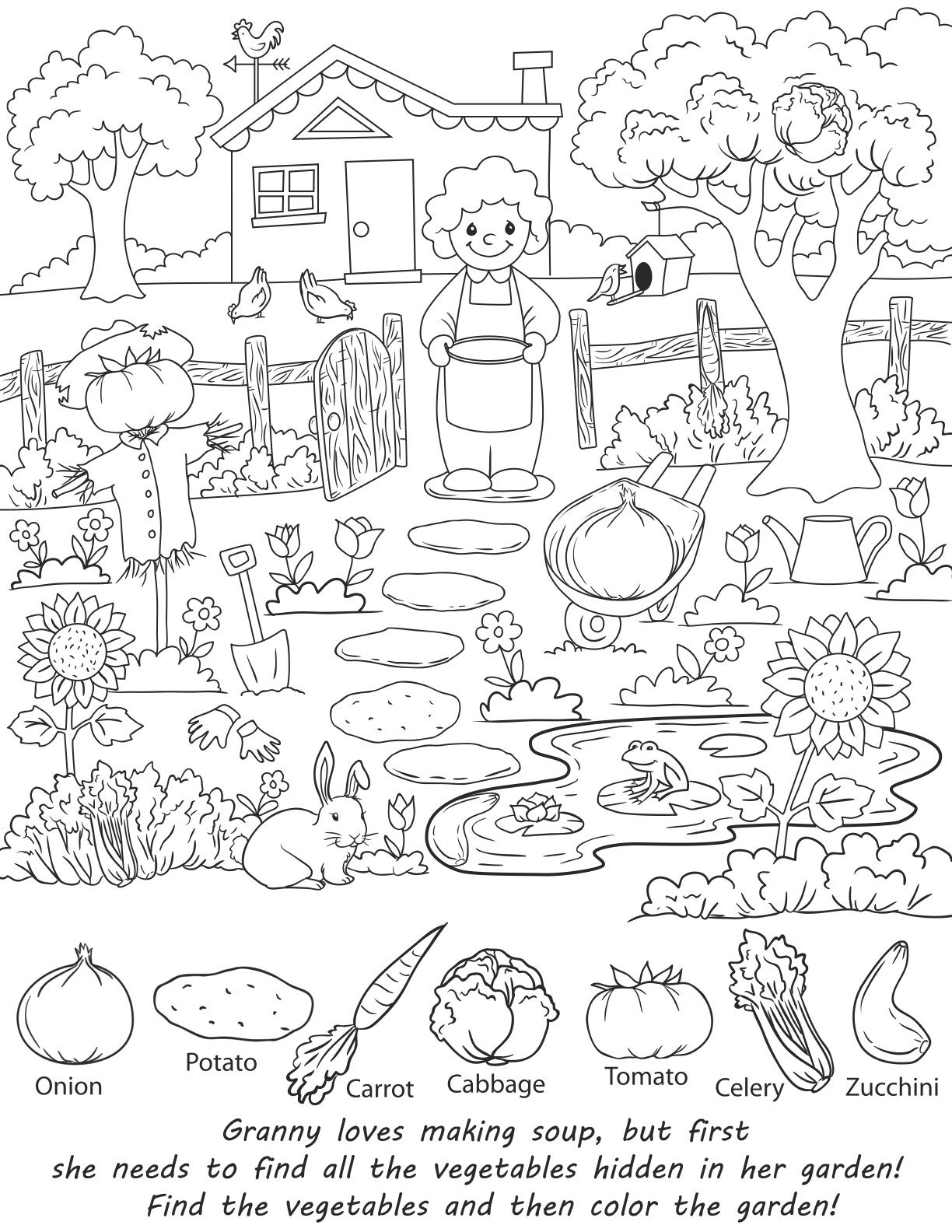 Superhero Captivating Hidden Pictures Coloring Pages Also