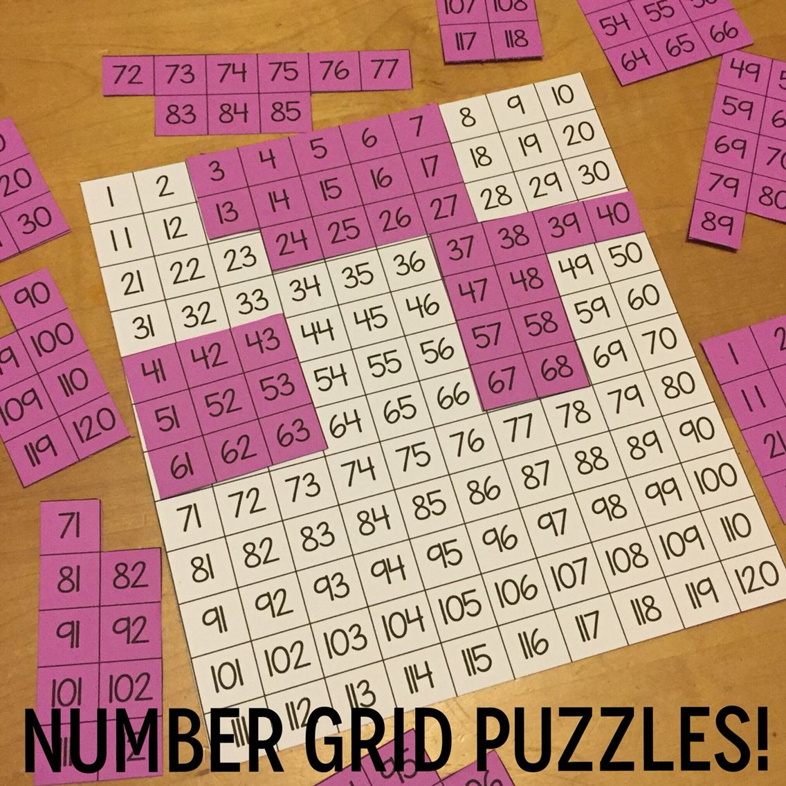 Cut Apart This Free Template To Make Number Grid Puzzles
