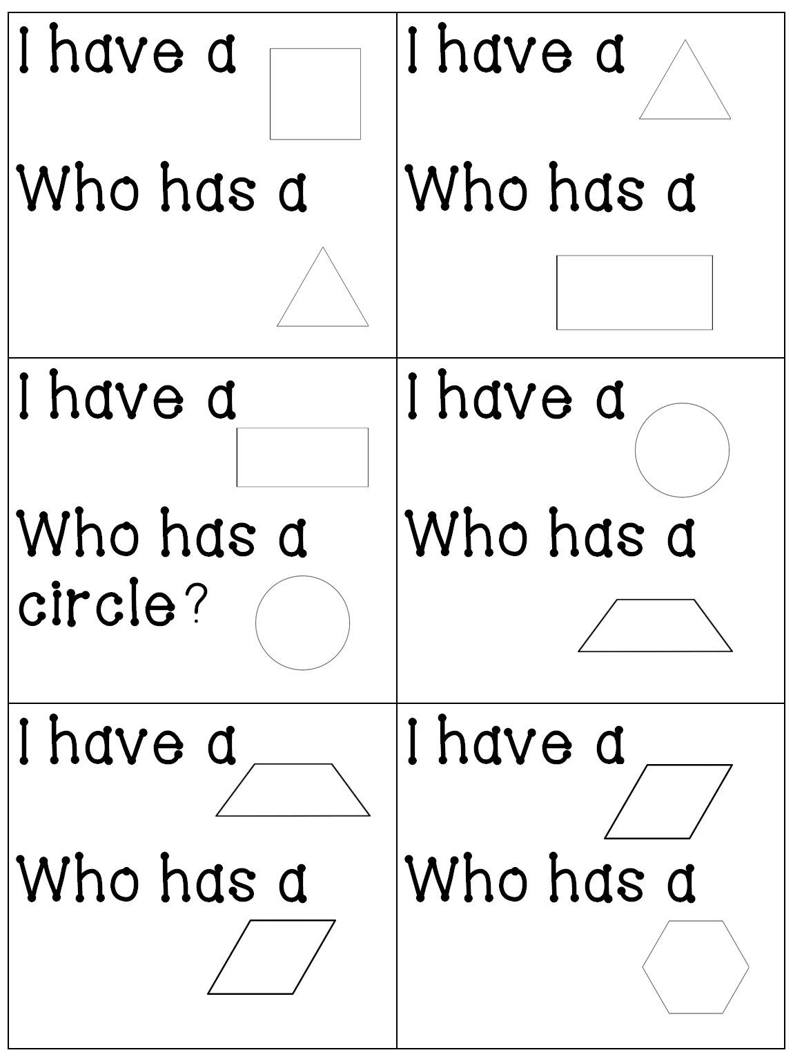 Worksheet Two Dimensional Shapes Planes