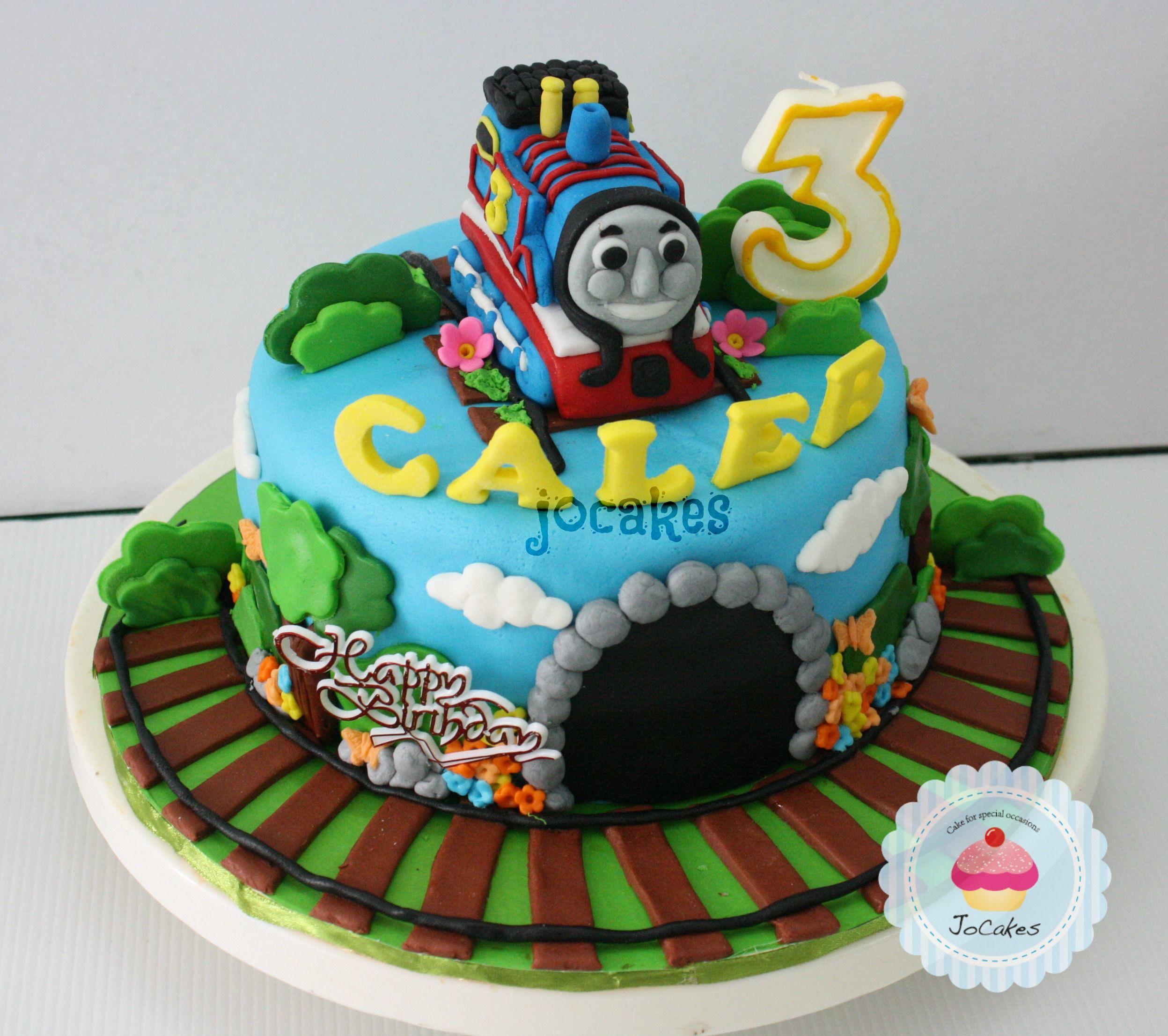 Thomas The Train Cake For Caleb
