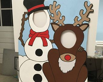 Frosty Photo Booth Prop Christmas Party Decor Face In