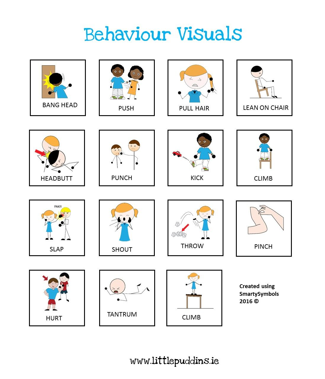 Autism Behavior Pecs Visuals Special Needs Printable
