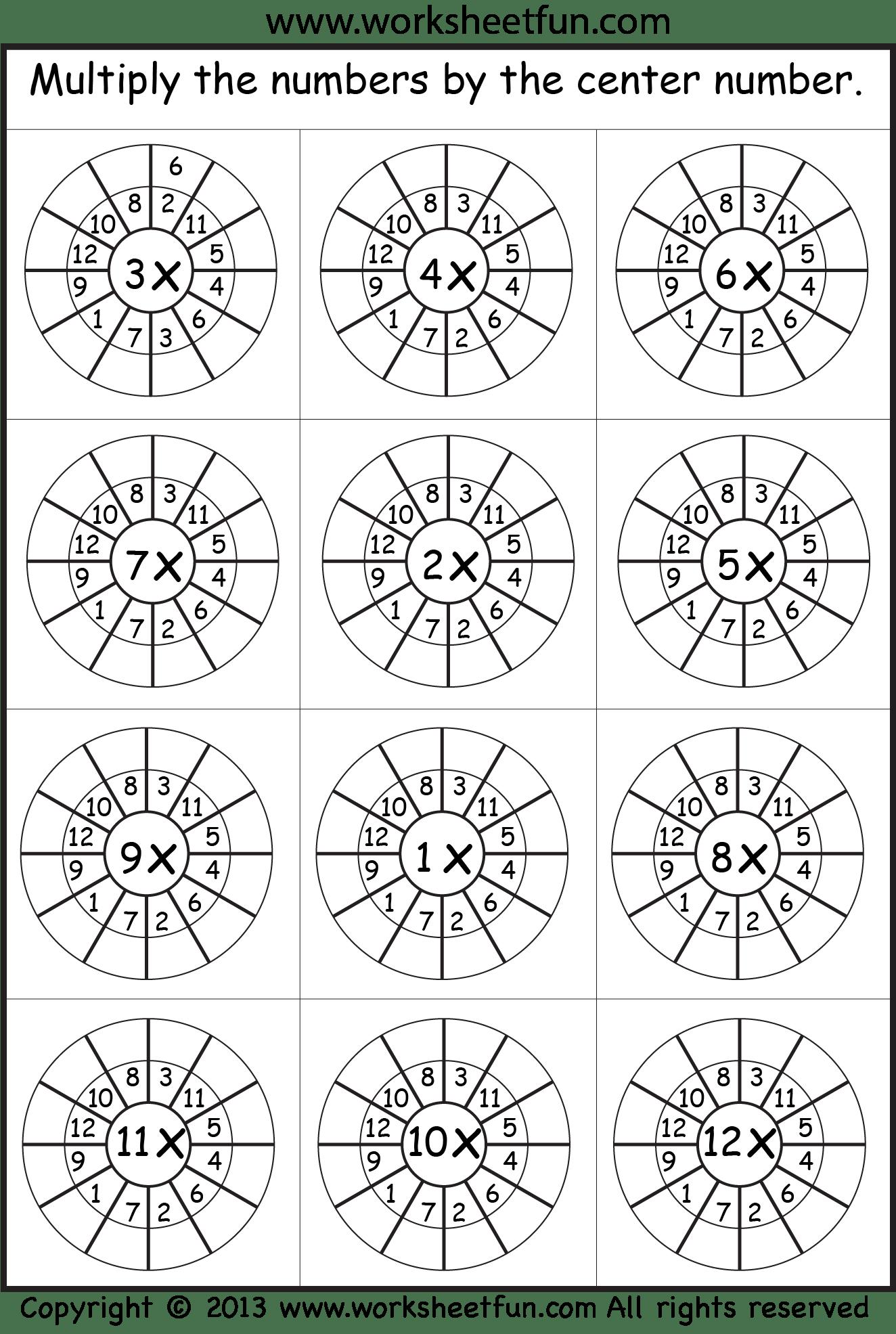 Multiplication Wheels 3
