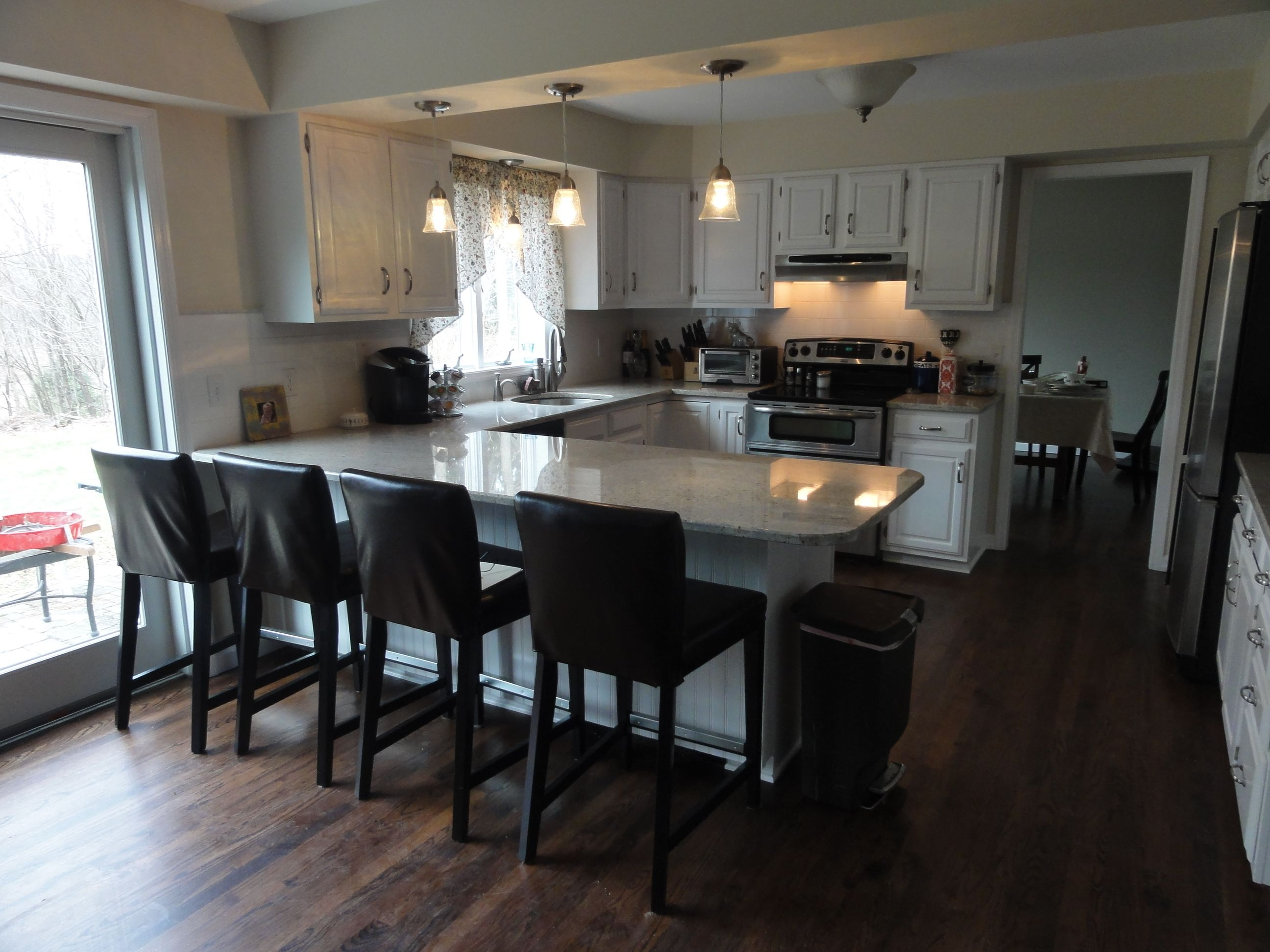 small u shaped kitchen with island for the home pinterest kitchen cabinetry wood flooring on u kitchen with island id=81193