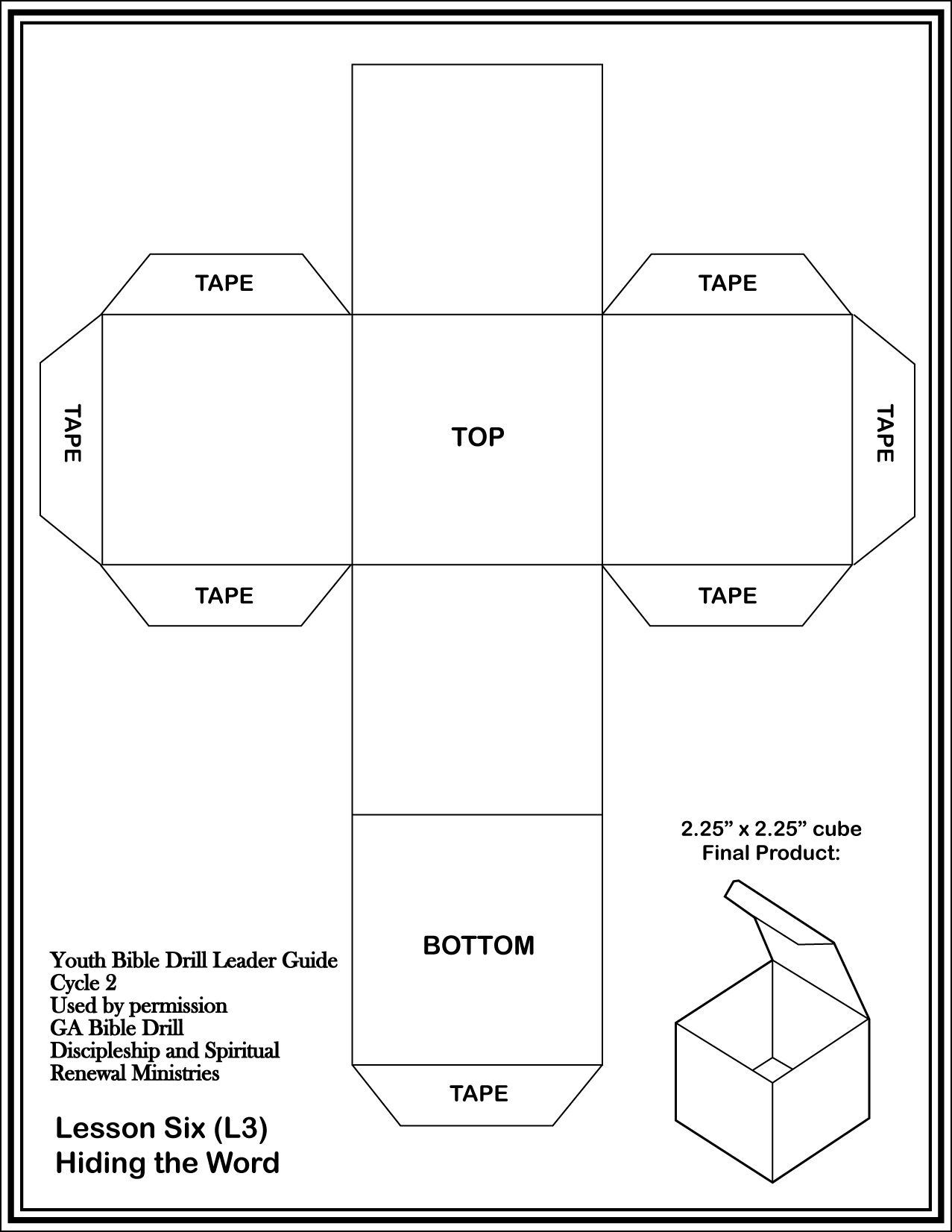 Download And Print Off The Cube Template On Cardstock And