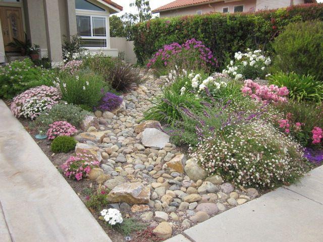 Rock Yard Landscaping   no grass front yard ideas ... on No Grass Backyard Ideas  id=60819
