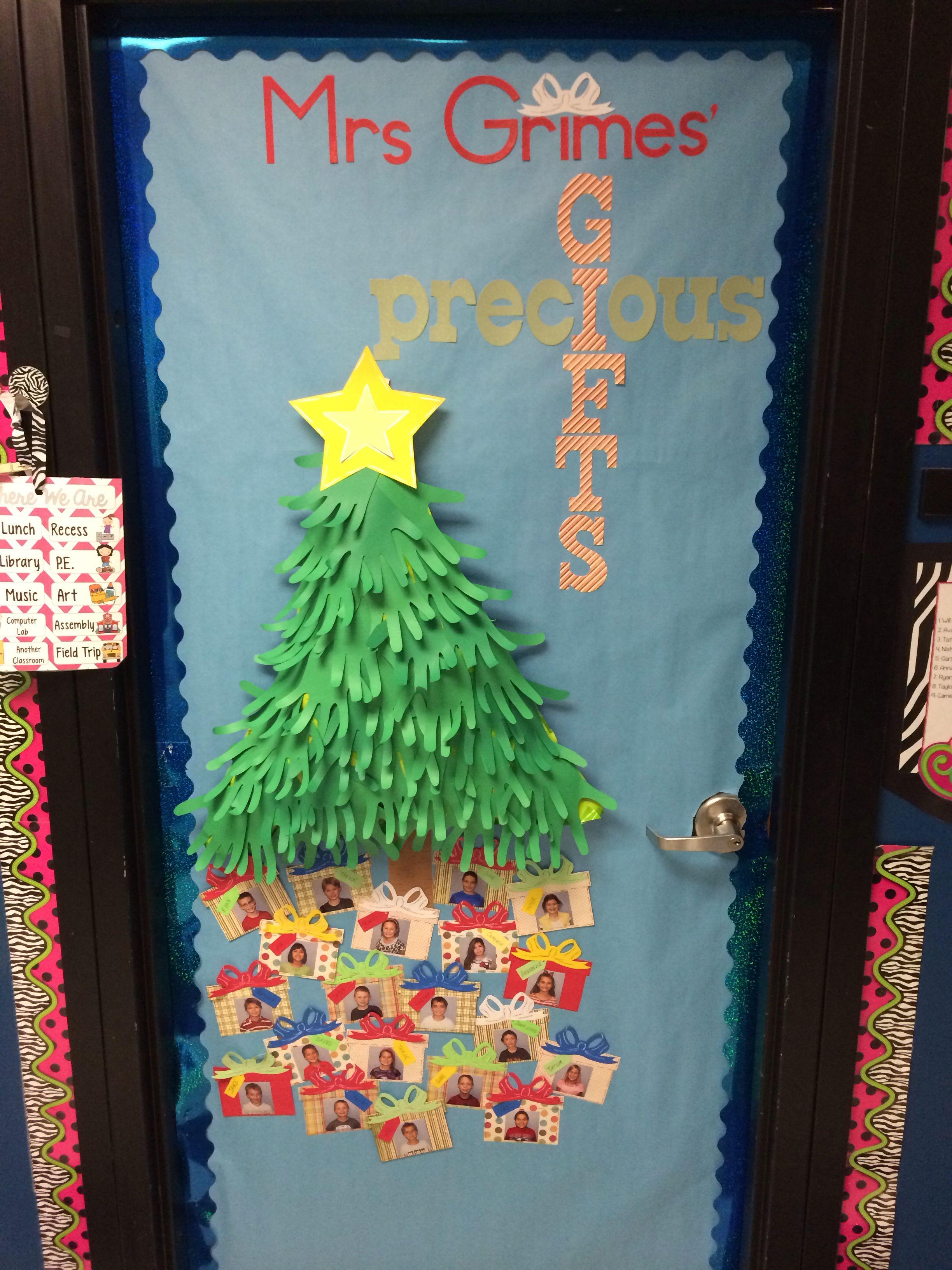 Christmas Door For 2nd Grade Classroom