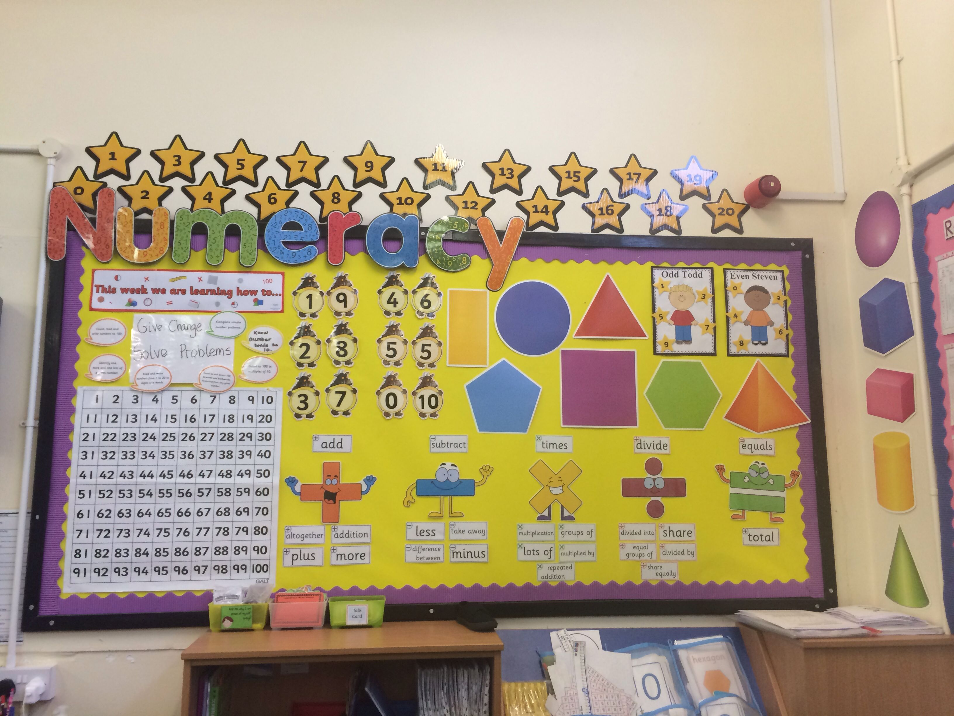Numeracy Display Year 1 Like The Vocab Bit We Could Do